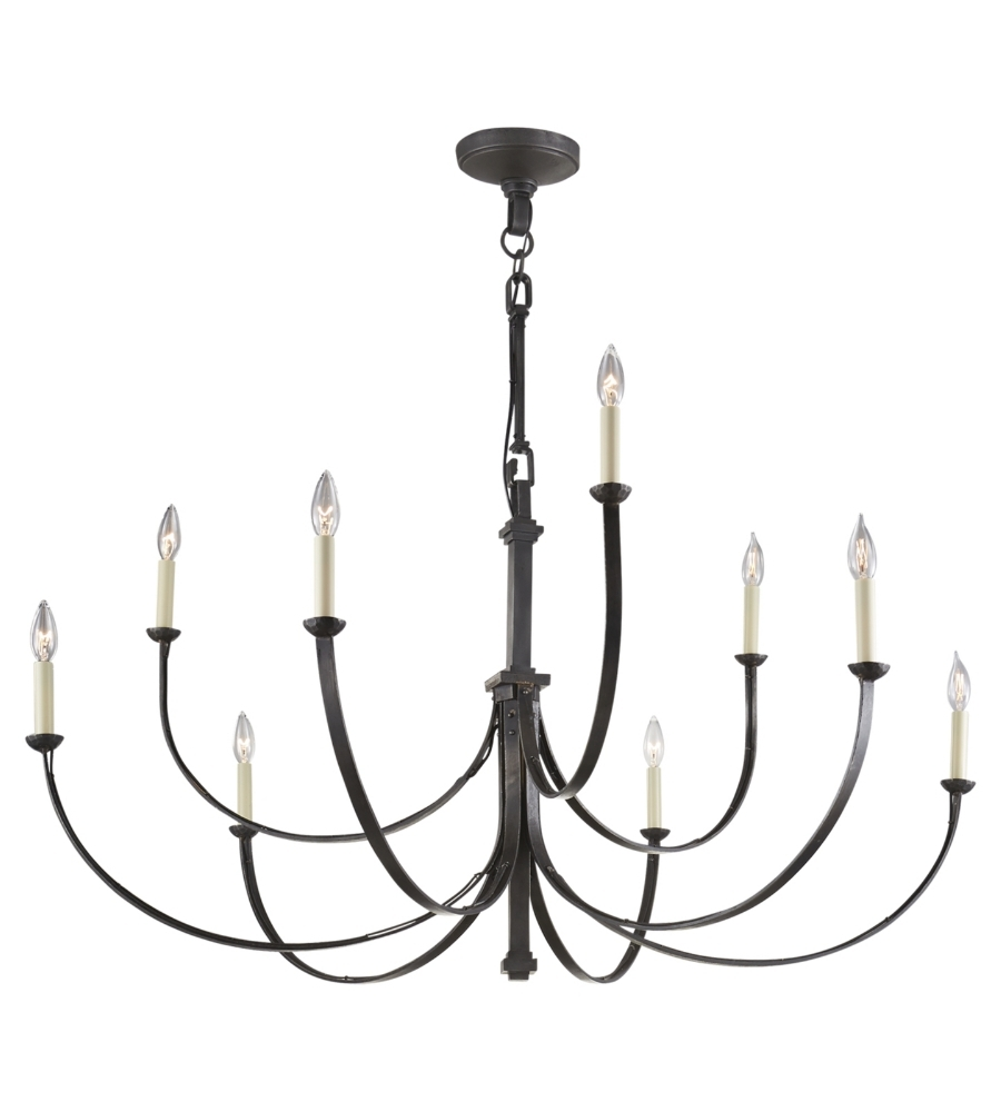 Large Black Chandelier Intended For Latest Visual Comfort Sk 5022ai Suzanne Kasler Casual Reims Large (View 2 of 20)