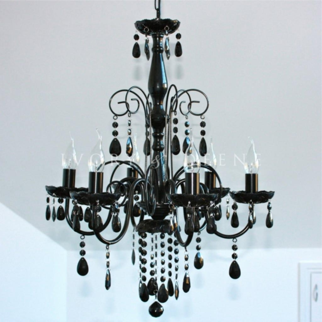 Large Black Chandelier Pertaining To Widely Used Black Chandelier Light (View 7 of 20)