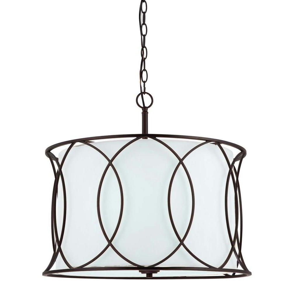 Large Bronze Chandelier Intended For Most Up To Date Canarm Monica 3 Light Oil Rubbed Bronze Chandelier Ich320A03Orb (View 7 of 20)