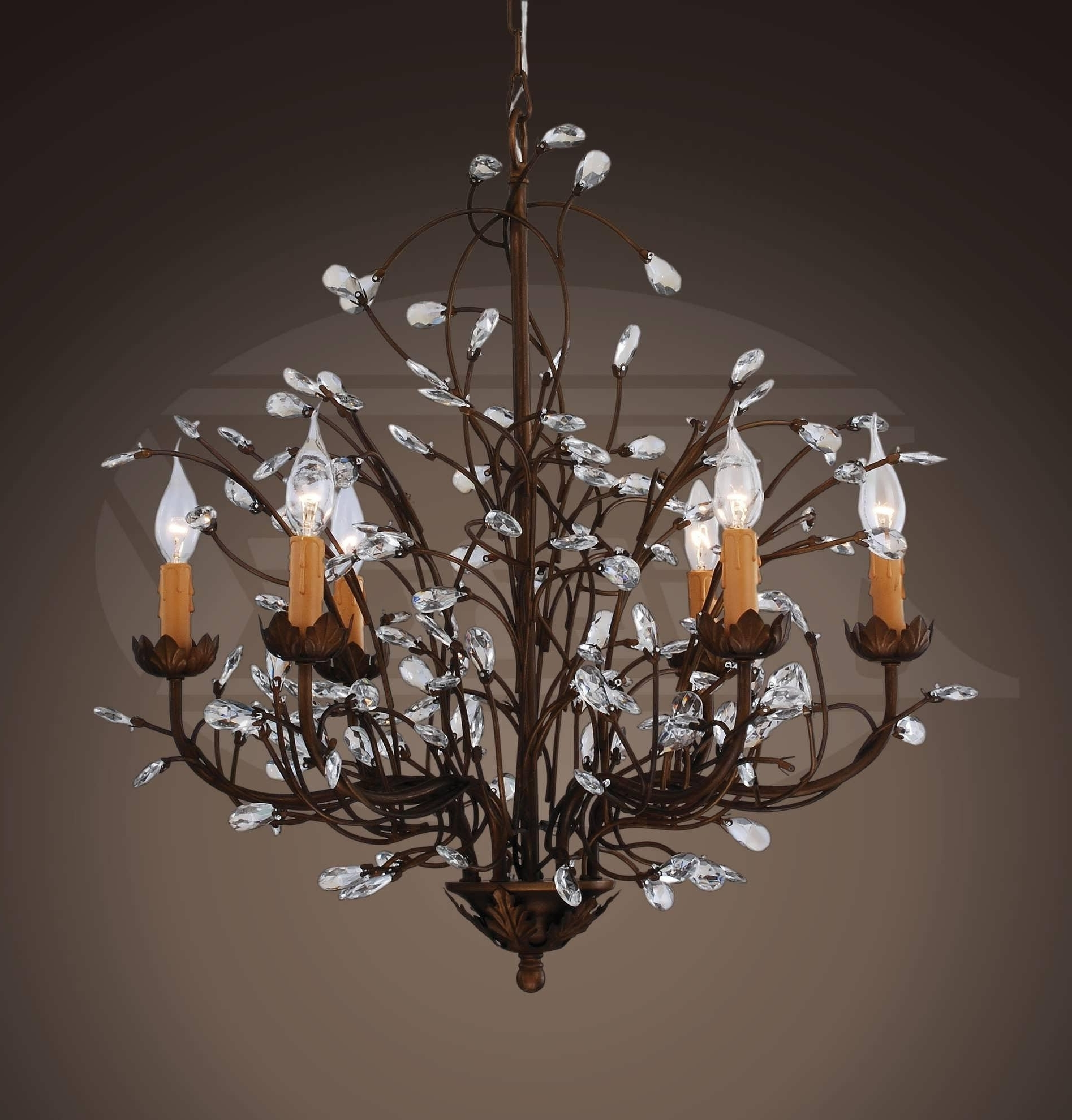 Large Contemporary Chandeliers For Preferred Chandeliers : Contemporary Chandelier Lighting Beautiful Chandeliers (View 20 of 20)