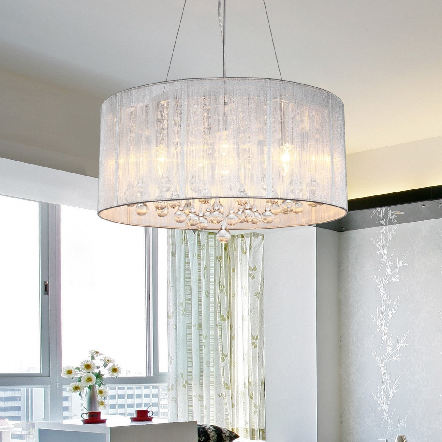 Large Contemporary Chandeliers Pertaining To Best And Newest Home Decor: Chandeliers Design : Fabulous Drumb Contemporary (View 13 of 20)