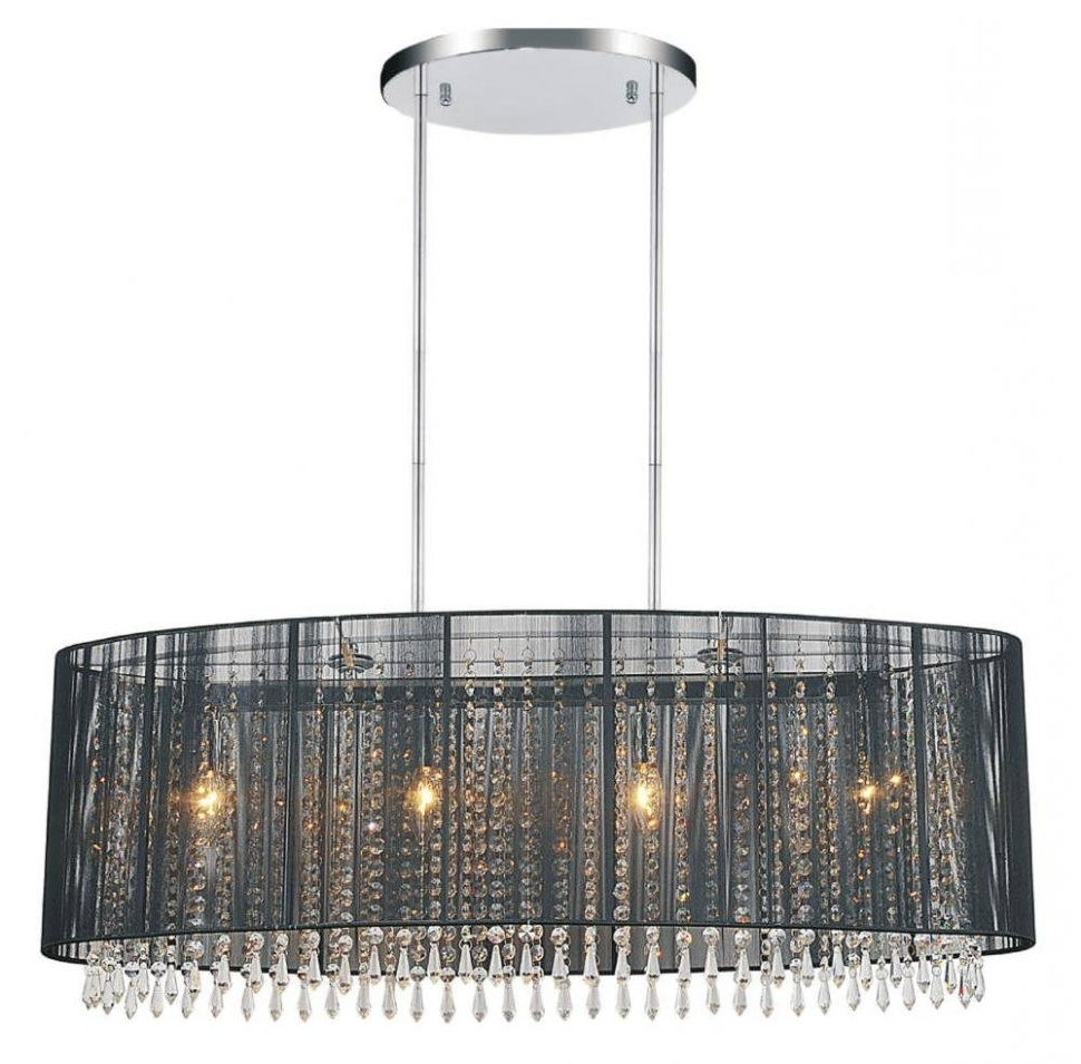 Large Cream Chandelier With Regard To Most Popular Chandelier : Crystal Chandelier With Shade Drum Pendant Chandelier (View 13 of 20)
