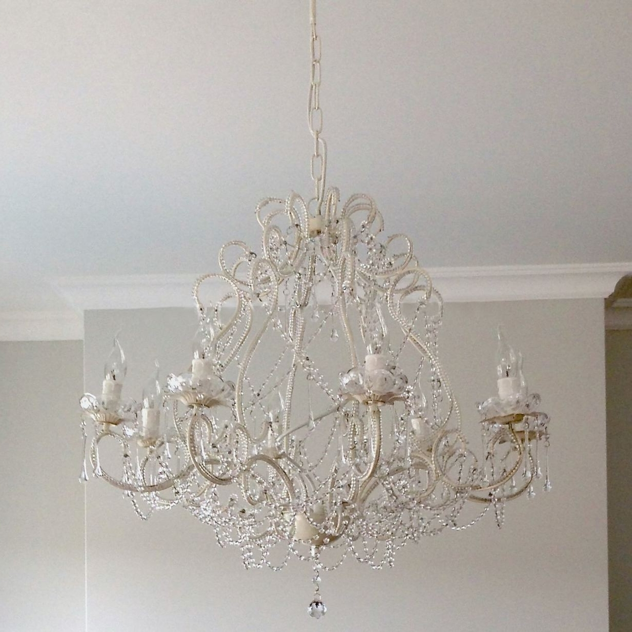 Large Cream Chandelier (View 6 of 20)