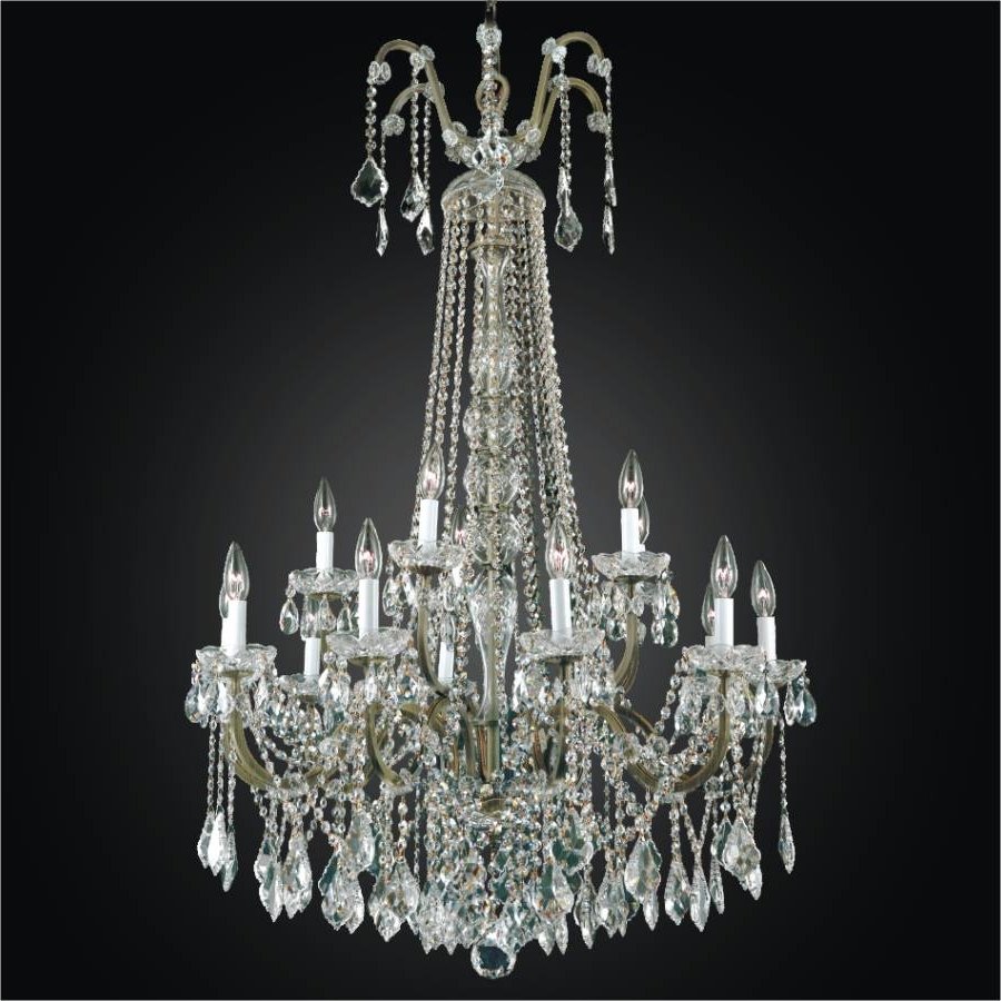 Large Crystal Chandeliers With Regard To Well Known Wrought Iron Foyer Chandeliers – Large Crystal Chandelier (View 9 of 20)