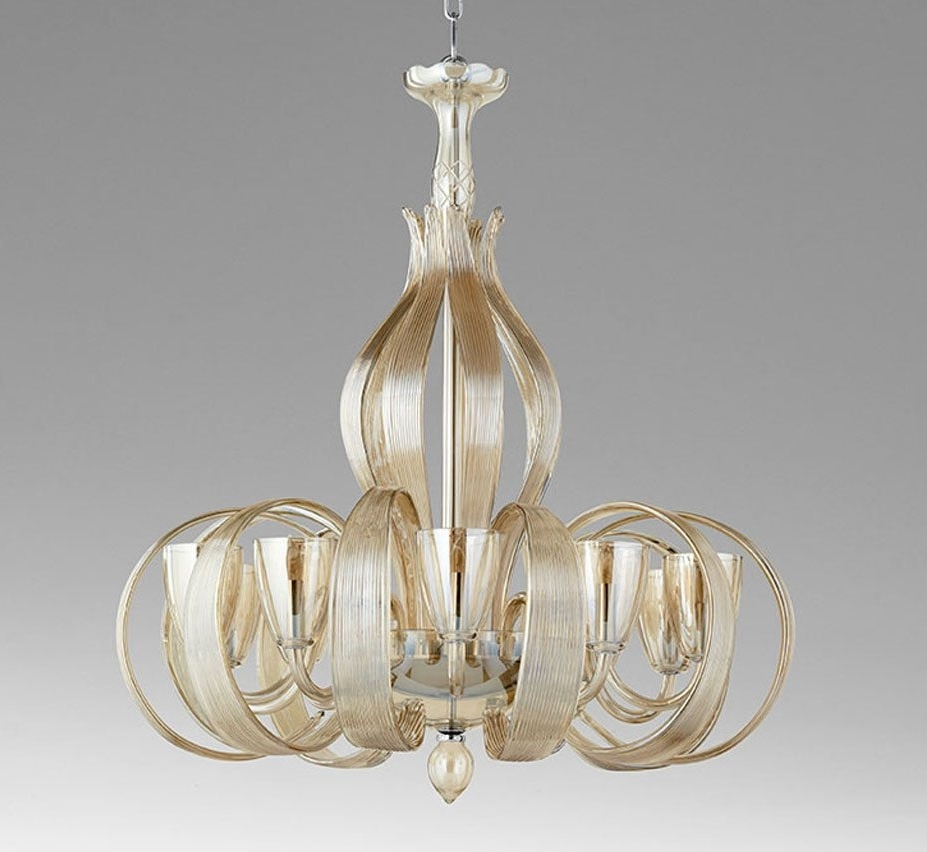 Large Glass Chandelier In Most Recently Released Lucille 10 Light Large Glass Chandelier (View 12 of 20)