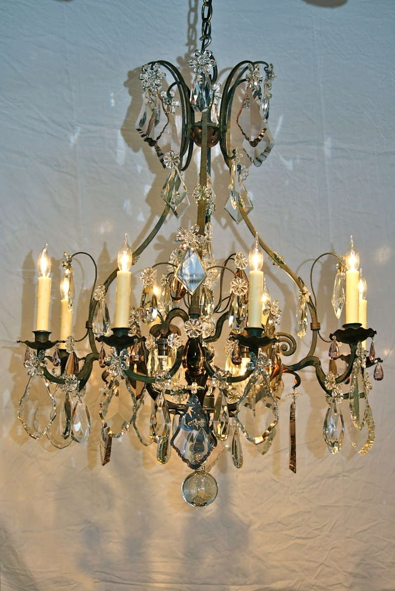 Large Iron Chandelier With Most Recent Large French Wrought Iron And Crystal Chandeliermaison Baguès (View 9 of 20)