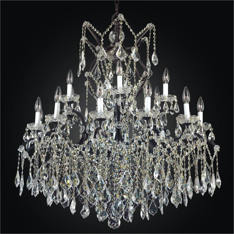 Large Iron Chandeliers Regarding Well Known Large Wrought Iron Chandeliers – Large Crystal Chandeliers (View 13 of 20)