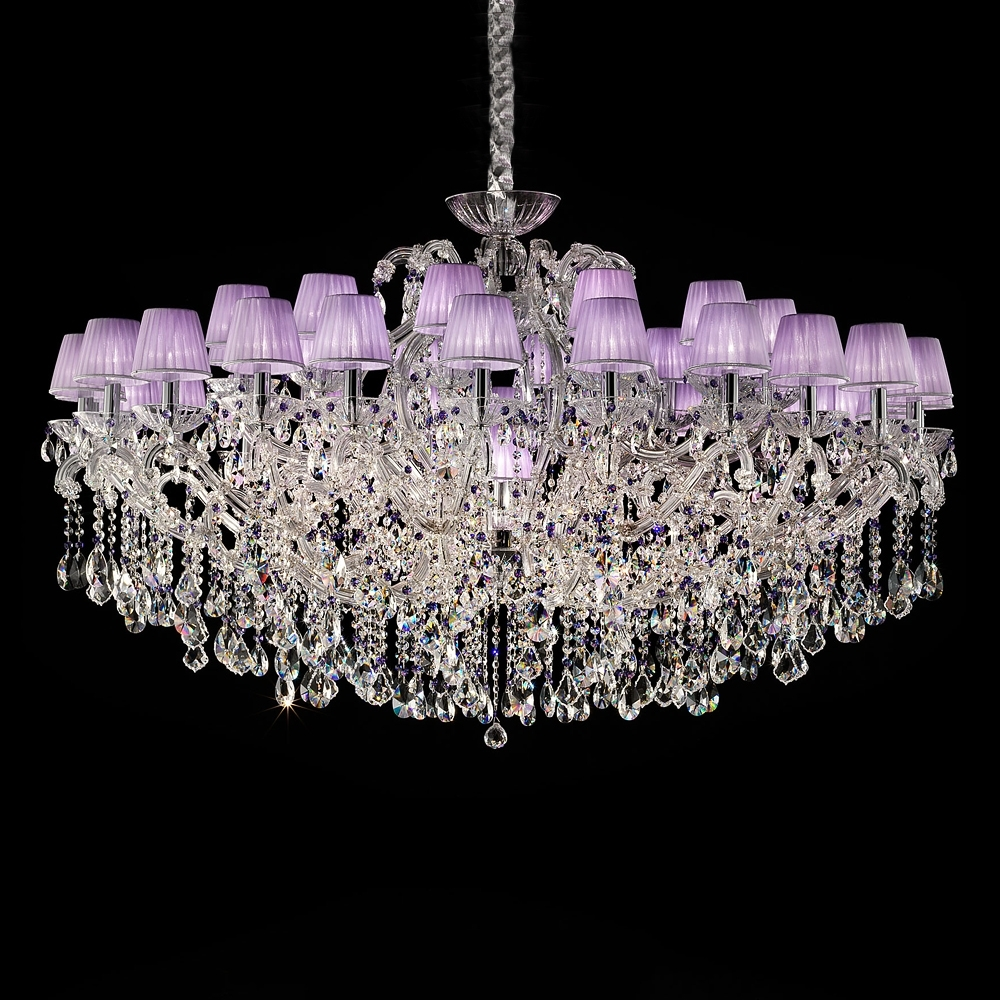 Large Lilac Swarovski Crystal Glass Chandelier (View 9 of 20)