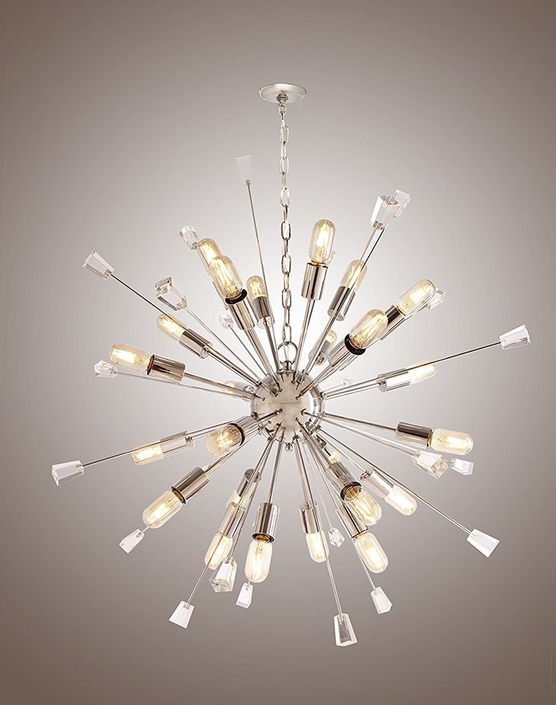 Large Mid Century Modern Sputnik Light Fixture /italian Starburst Within Most Current Large Modern Chandeliers (View 8 of 20)
