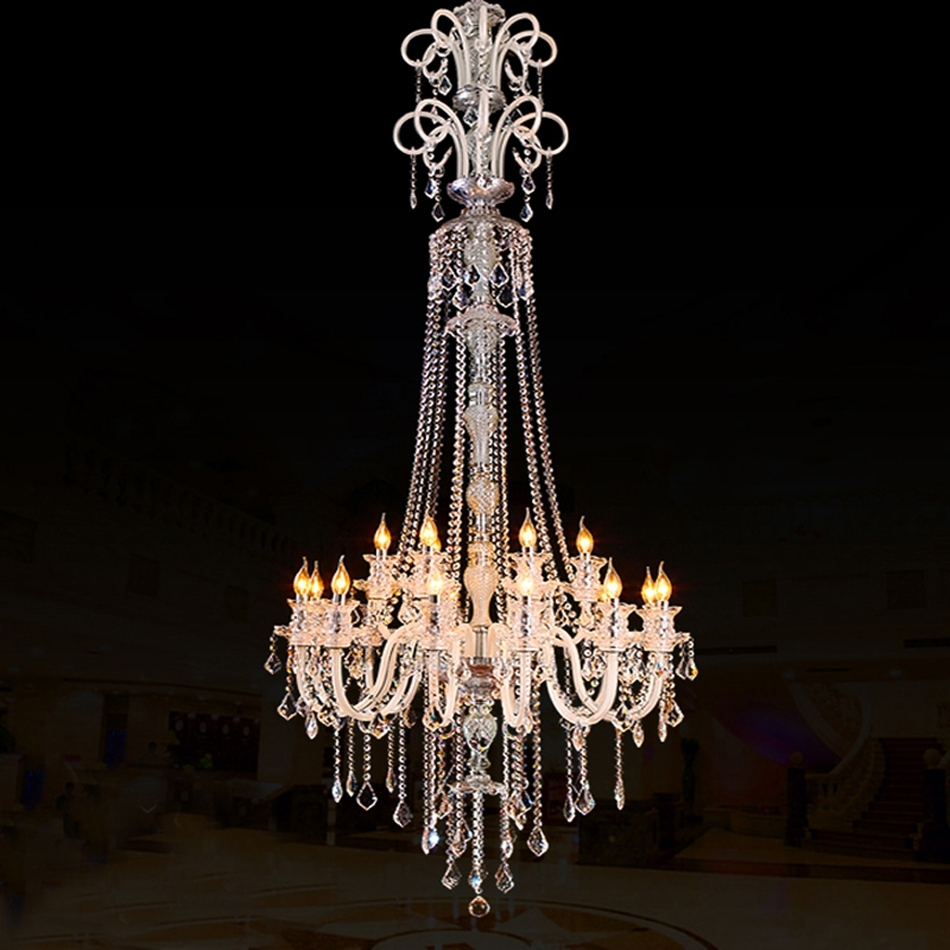 Large Modern Crystal Chandelier For High Ceiling Extra Large Pertaining To Famous Extra Large Crystal Chandeliers (View 13 of 20)