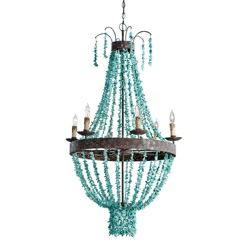Large Turquoise Chandeliers Regarding Well Known Chandeliers Design : Marvelous Kitchen Island Pendant Lighting White (View 2 of 20)