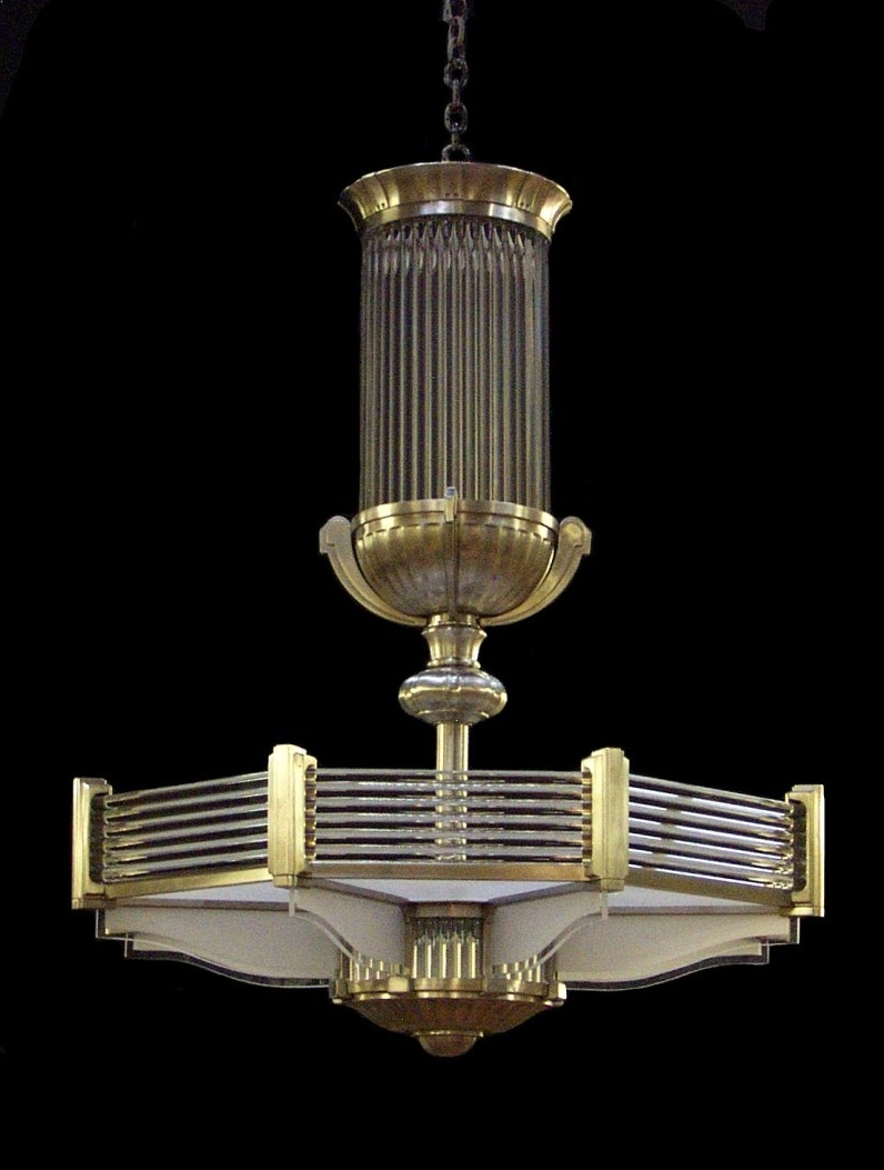 Latest Art Deco Chandelier In A Style Similar To That Of Atelier Petitot Throughout Art Deco Chandelier (View 3 of 20)