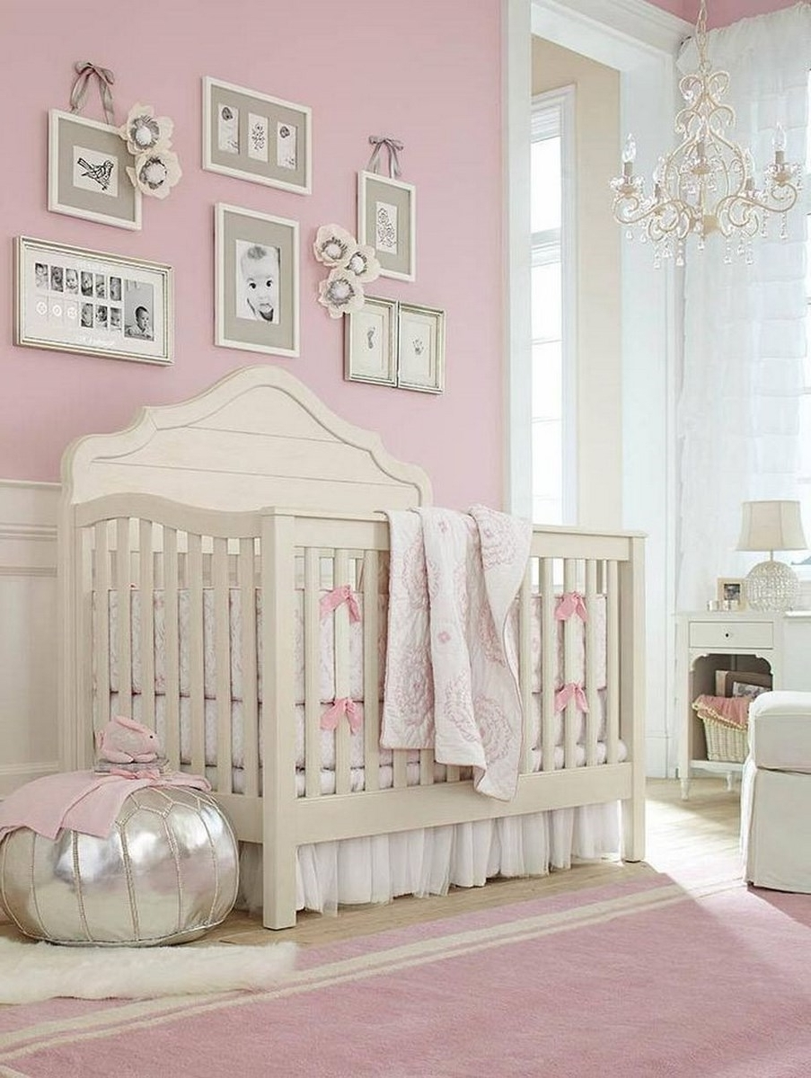 Latest Baby Nursery : Captivating Decorations Wiith Baby Girl Nursery Pertaining To Chandeliers For Girl Nursery (View 15 of 20)