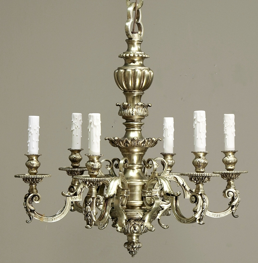 Latest Baroque Chandelier Inside Cast Bronze Baroque Chandelier With Chain & Canopy – Inessa (View 12 of 20)