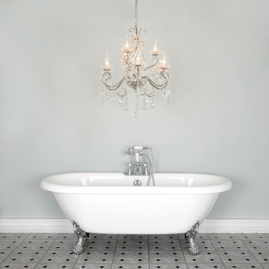 Latest Chandelier: Astonishing Small Chandeliers For Bathroom Bathroom Throughout Chandeliers For The Bathroom (View 15 of 20)