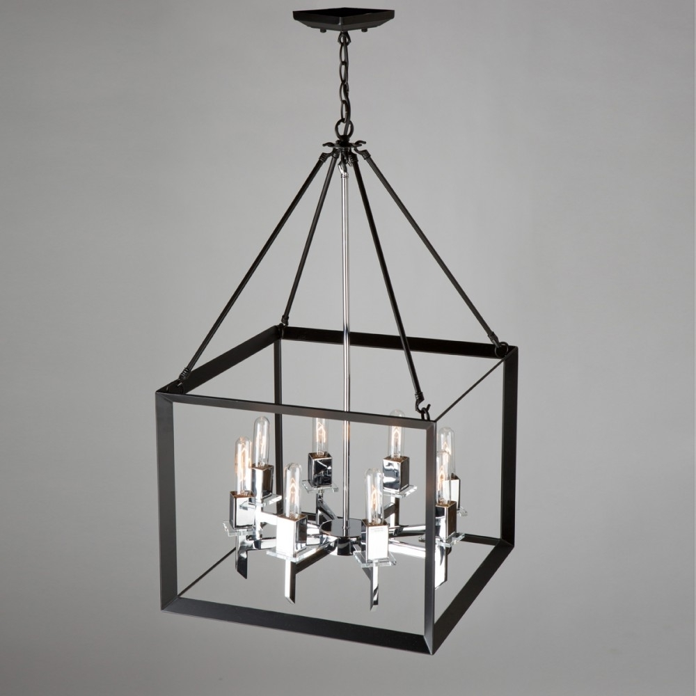 Latest Chandelier Chrome Regarding Vineyard 8 Light Ac10069Bc Black & Chrome Chandelier (View 12 of 20)