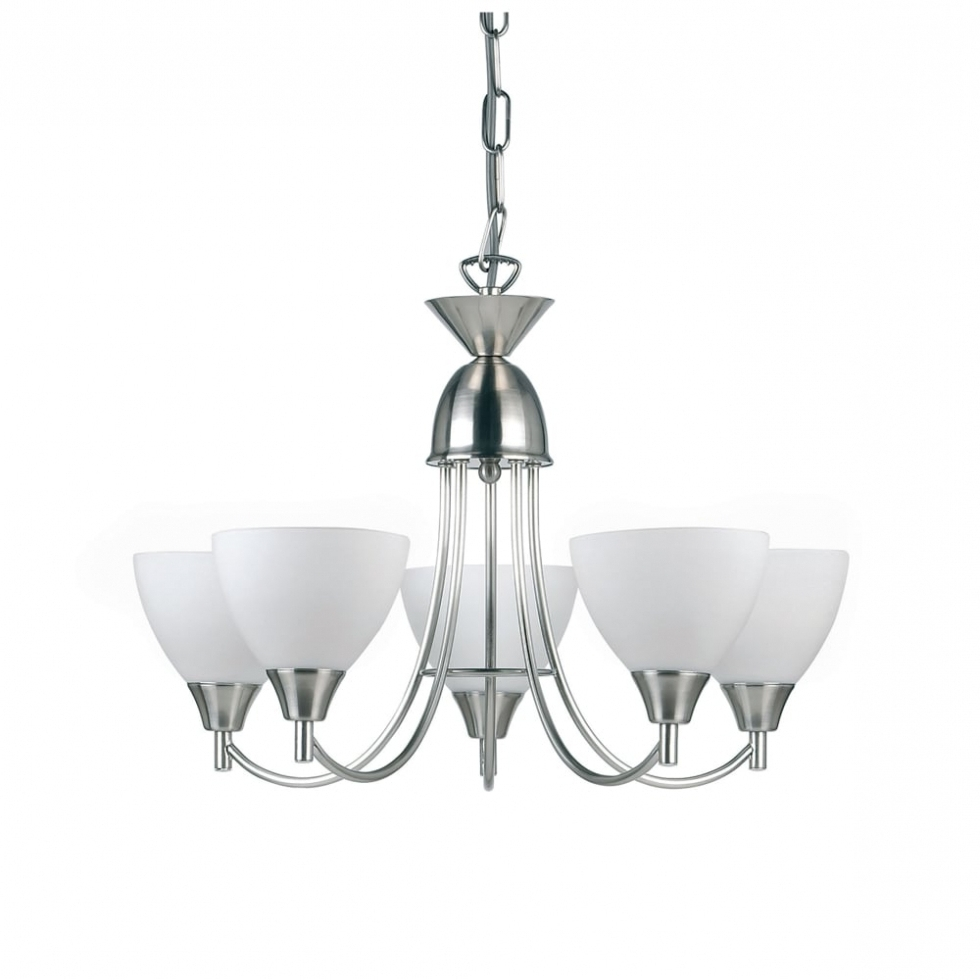 Latest Chandelier ~ Endon Lighting Alton 5 Light Ceiling Fitting In Satin Pertaining To Endon Lighting Chandeliers (View 11 of 20)