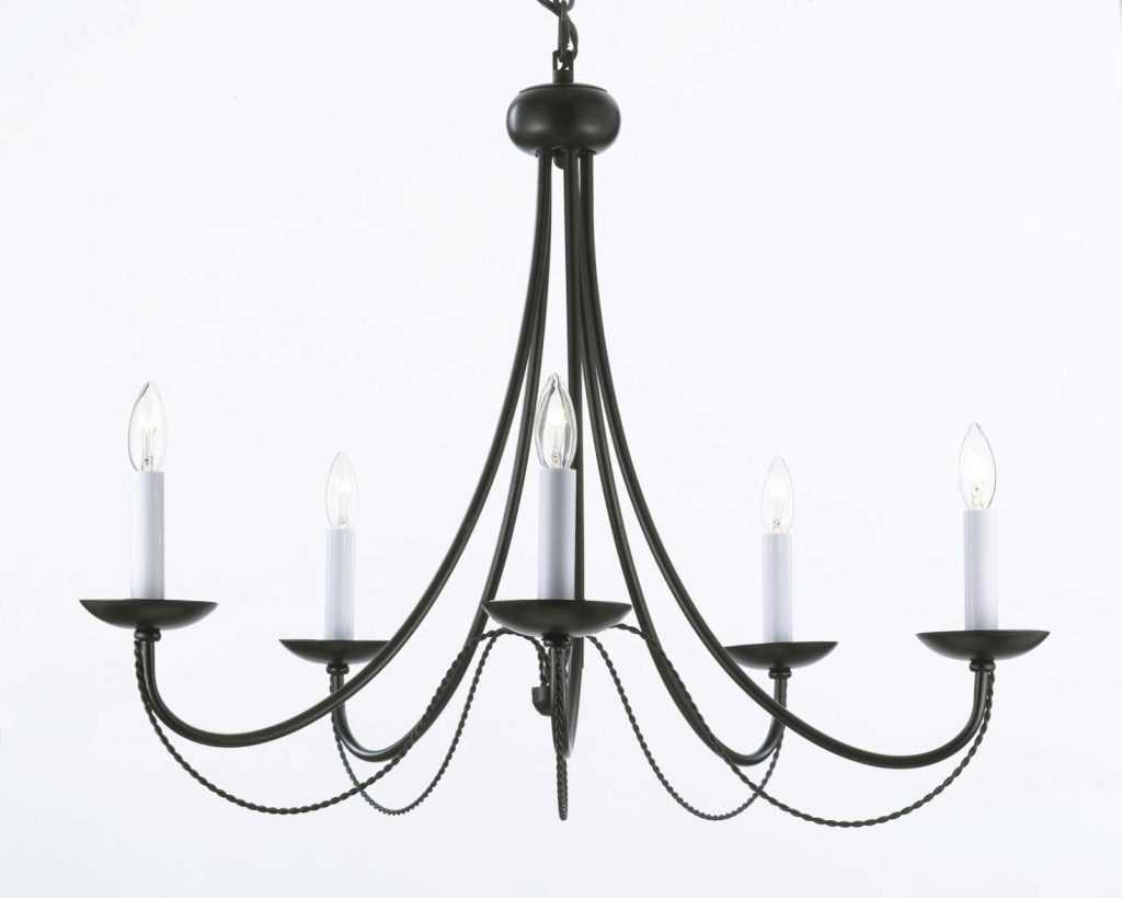 Latest Chandelier ~ G7 403/5 Wrought Iron Chandelier Chandeliers, Crystal Inside French Style Chandelier (View 18 of 20)