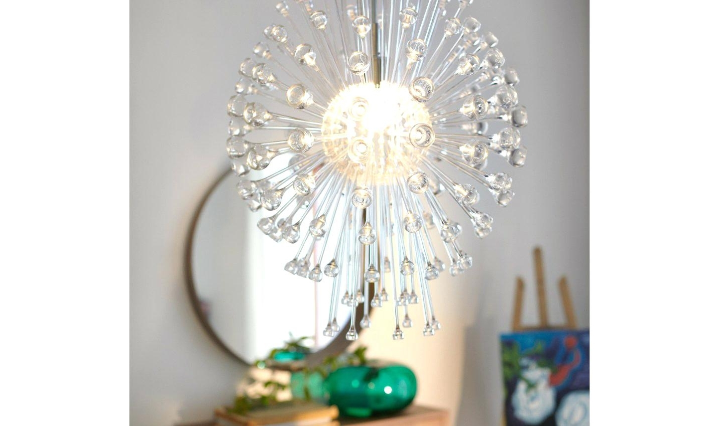 Latest Chandelier Mirror Within Wall Decal Chandelier Mirror Modern Crystal Chandeliers Beautiful (View 7 of 20)