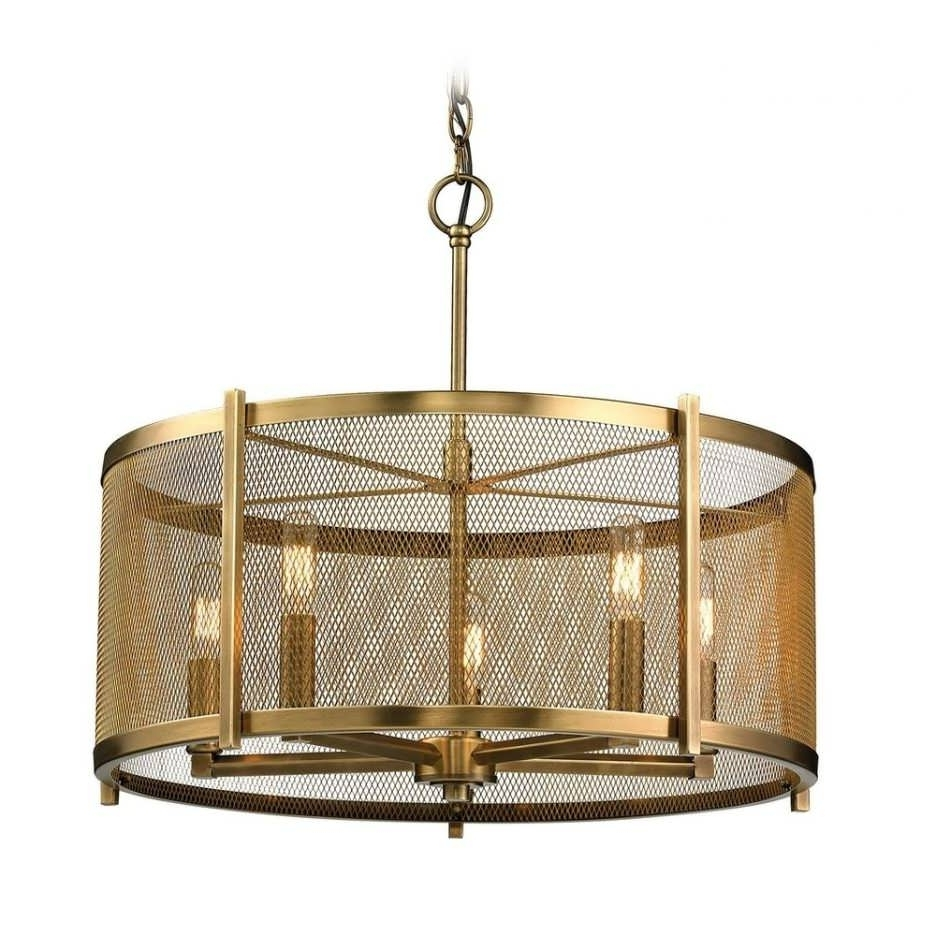 Latest Chandeliers Design : Fabulous Cylinder Pendant Light Small Within Metal Drum Chandeliers (View 7 of 20)