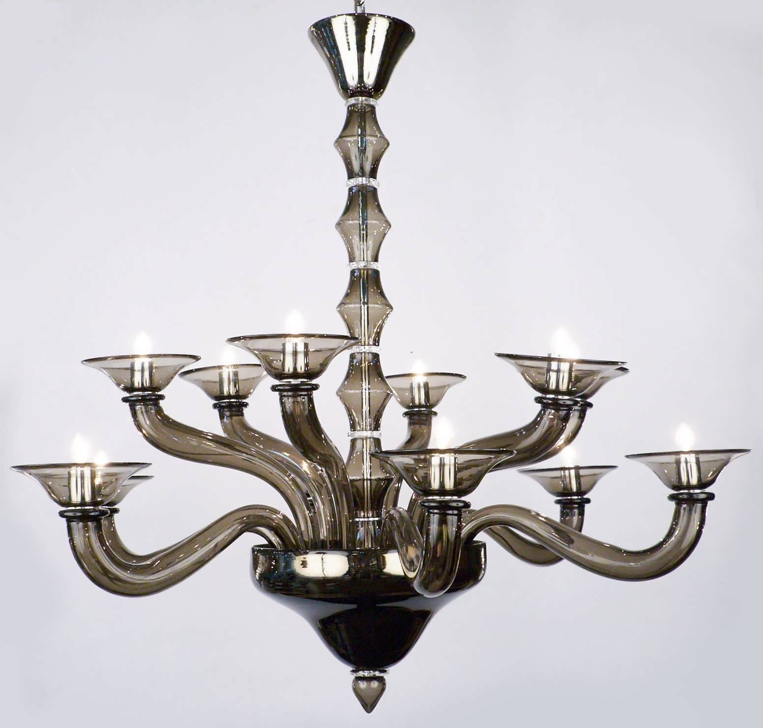 Latest Chandeliers Design : Magnificent Blown Glass Chandelier Drum Intended For Modern Italian Chandeliers (View 9 of 20)