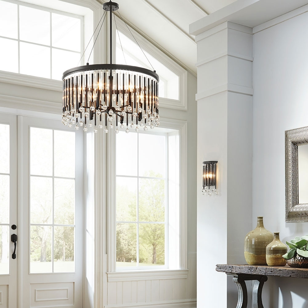 Latest Chandeliers For Hallways Throughout Light Fixture : Hallway Lighting Tips And Ideas Chandelier Size For (View 9 of 20)