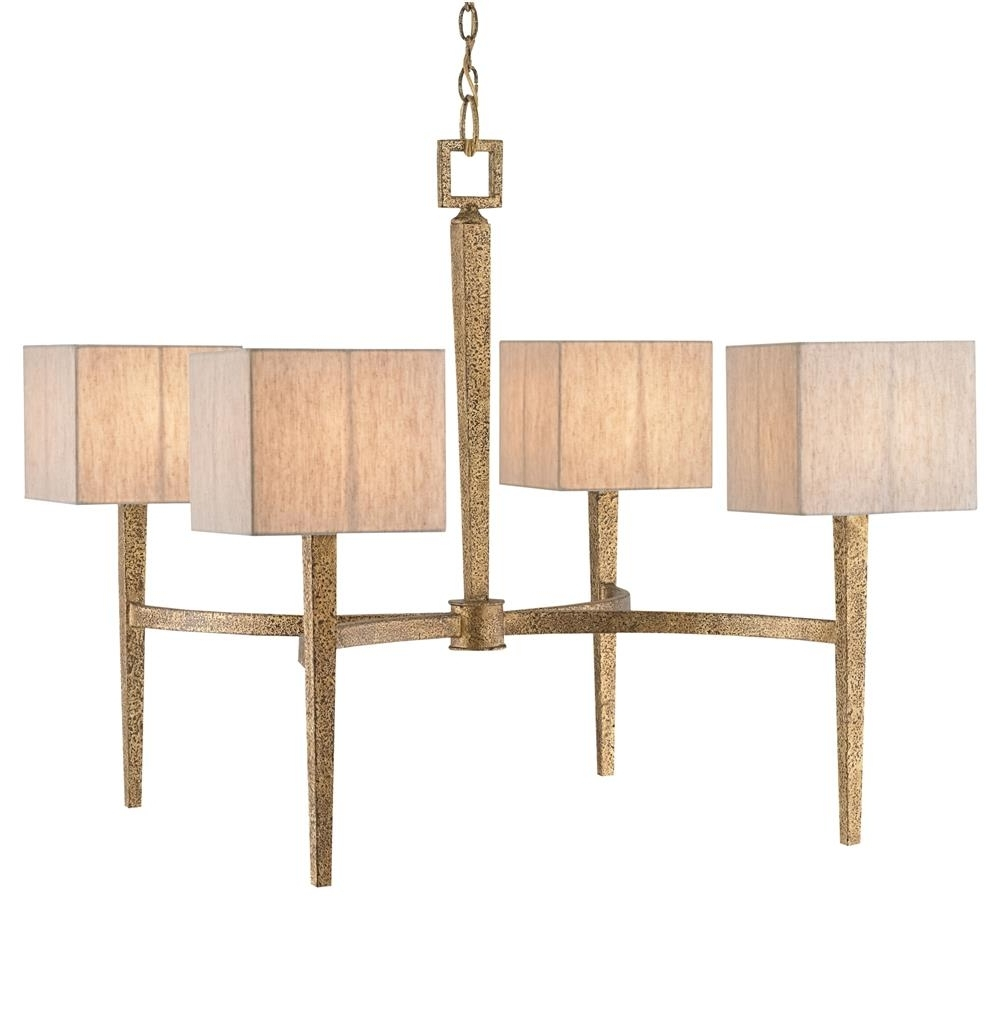 Latest Claudette Modern Classic Antique Gold Square Chandelier (View 13 of 20)