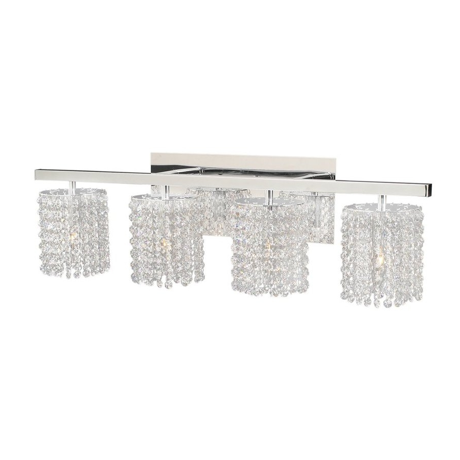 Latest Crystal Bathroom Light Fixtures Lighting Swarovski Sconces For Chandelier Bathroom Lighting Fixtures (View 14 of 20)