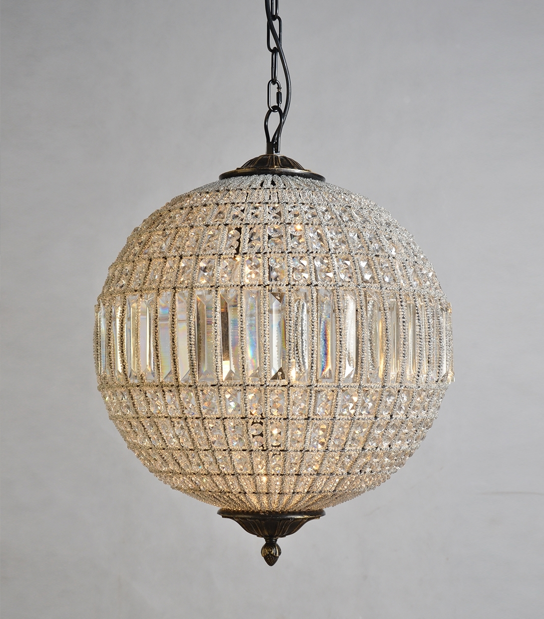 Latest Crystal Globe Chandelier With Regard To Chandeliers : Addison Crystal Globe (View 1 of 20)