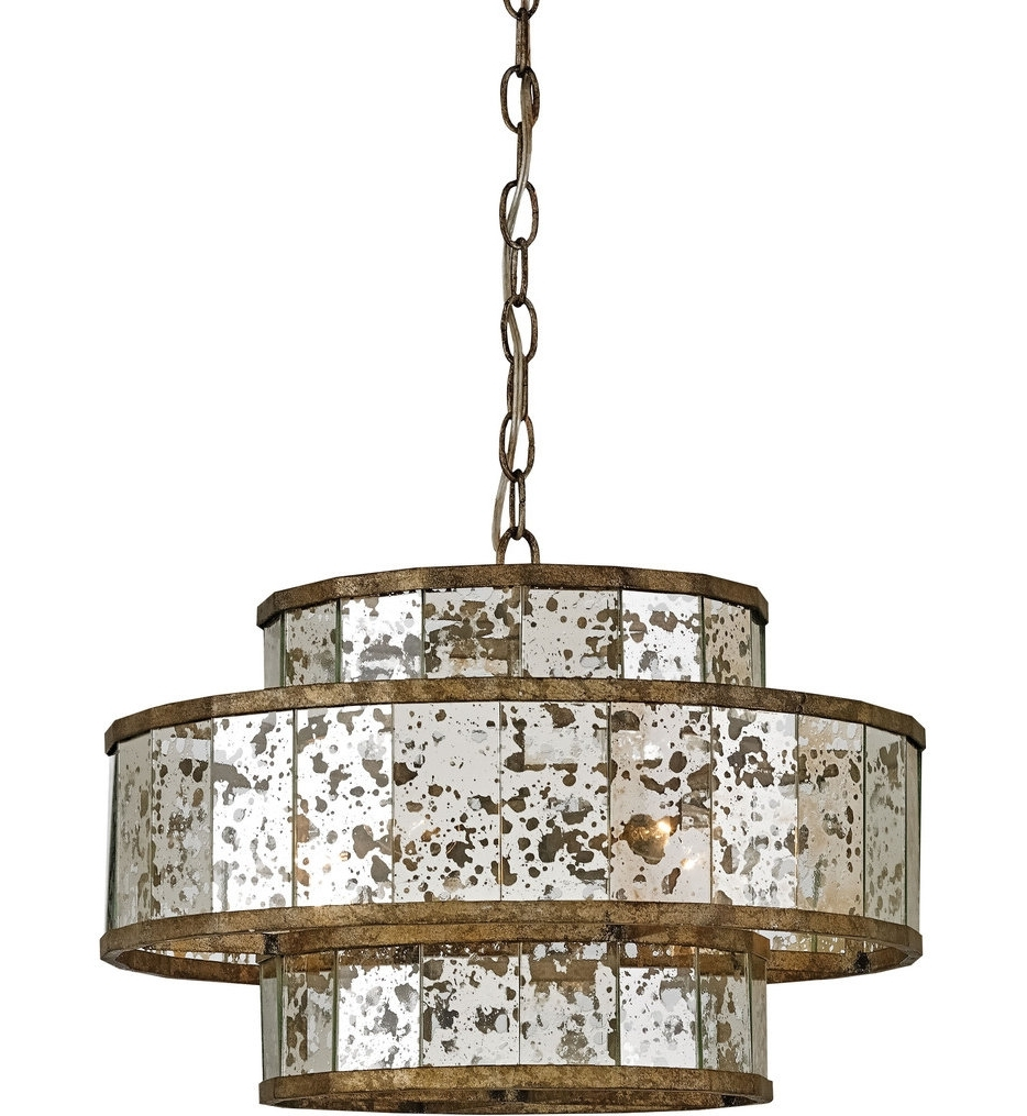 Latest Currey & Company – 9759 – Fantine 5 Light Chandelier With Pyrite With Mirror Chandelier (View 11 of 20)