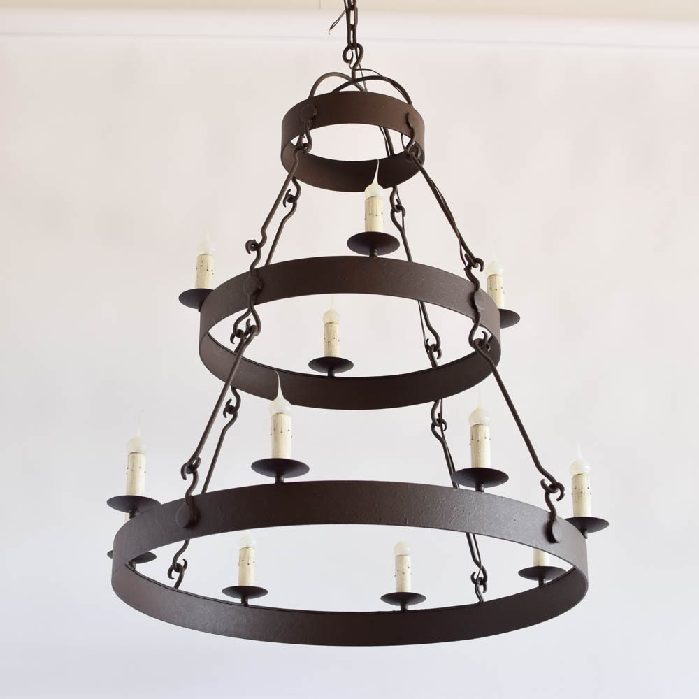 Latest Custom Large Iron Ring(s) Chandelier – The Big Chandelier With Regard To Large Iron Chandelier (View 19 of 20)