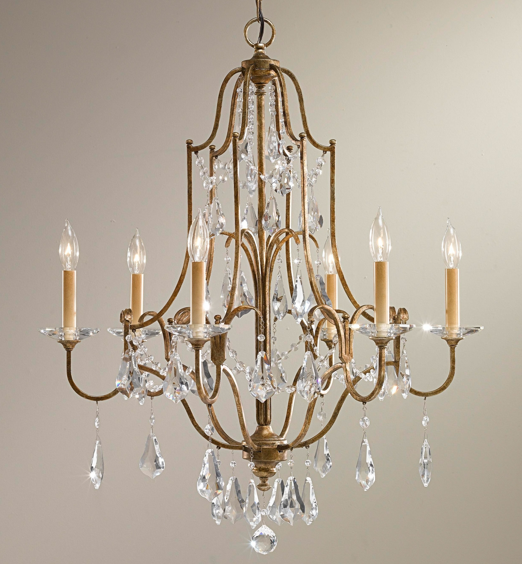 Latest Feiss F2478/6obz Crystal Valentina Six Light Chandelier For Feiss Chandeliers (View 14 of 20)