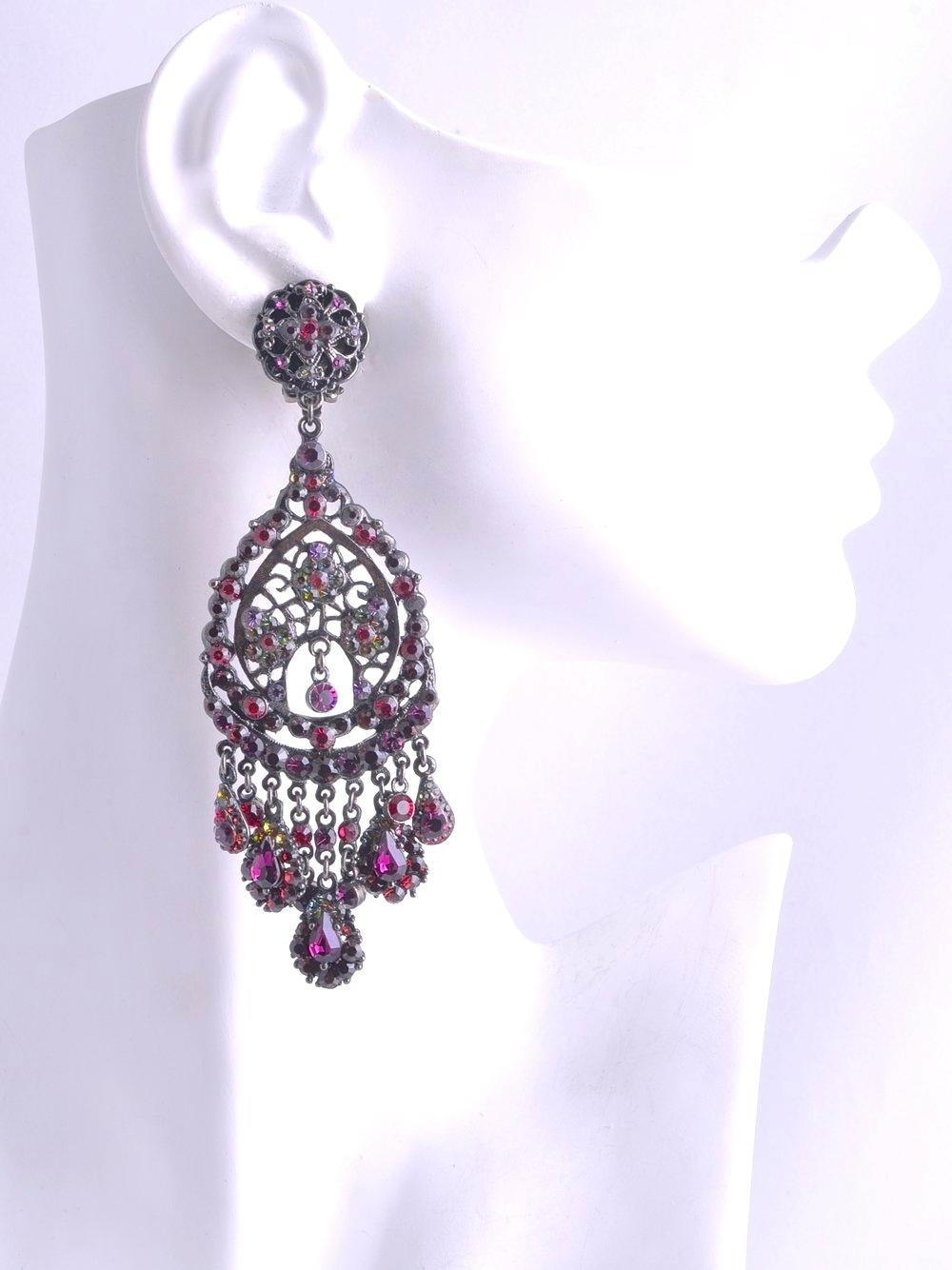 Latest Fuschia Chandelier Earrings – Iglab Pertaining To Fuschia Chandelier (View 6 of 20)