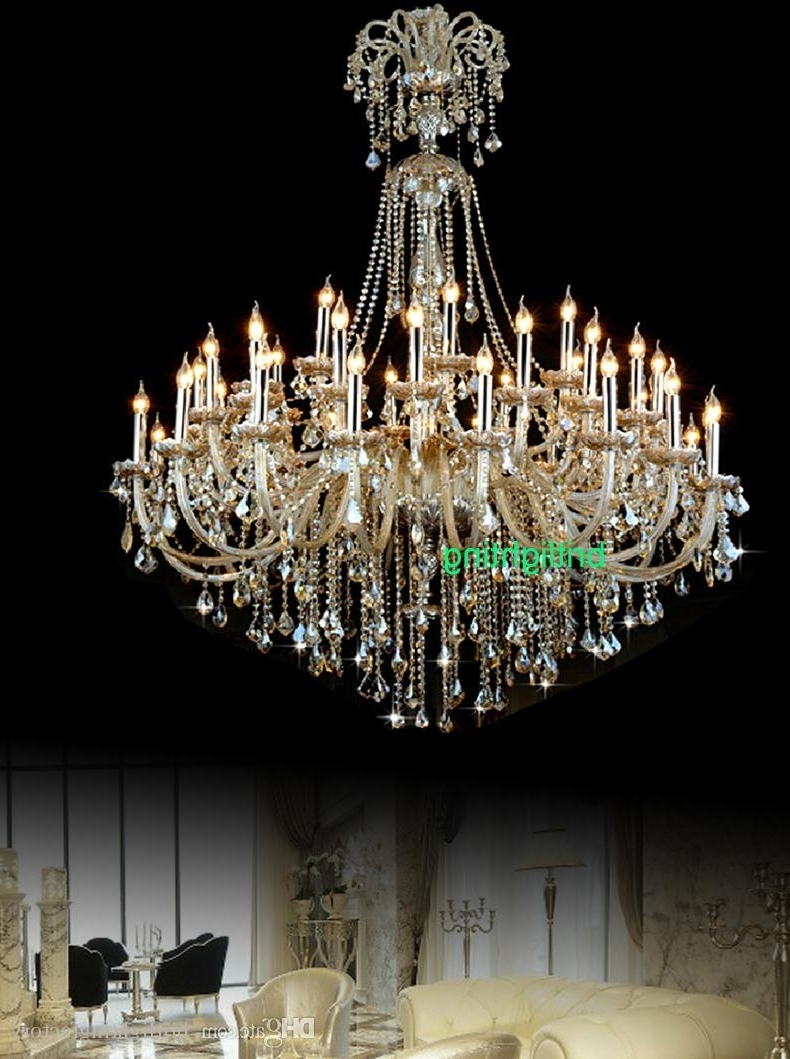 Latest Huge Crystal Chandelier Pertaining To Extra Large Crystal Chandelier Lighting Entryway High Ceiling (View 16 of 20)