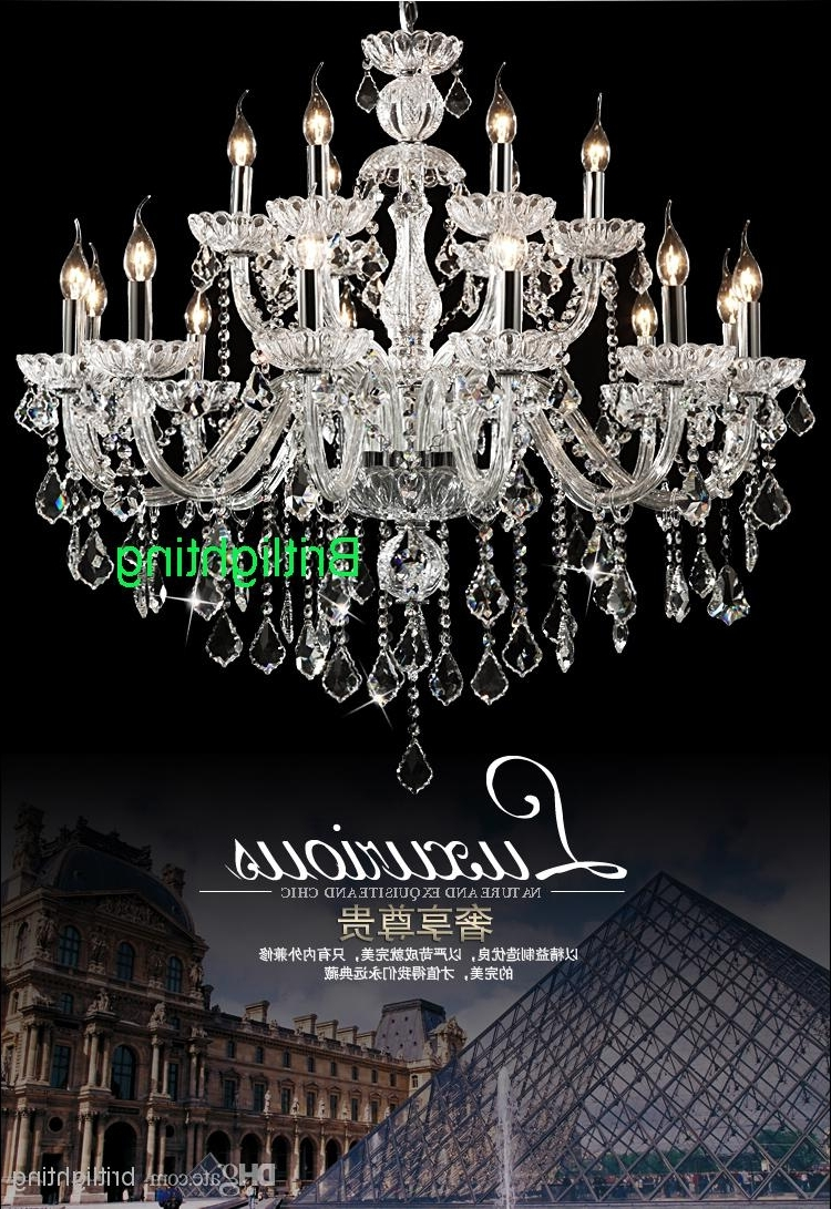 Latest Large Chandeliers Modern With Regard To Modern Crystal Chandeliers Living Room Industrial Chandelier Parlor (View 11 of 20)