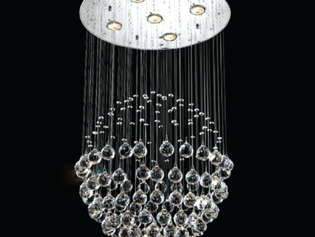 Latest Long Hanging Chandeliers With Regard To Home Decor: Hanging Crystal Chandeliers Long Lighting Amazing Gold (View 8 of 20)