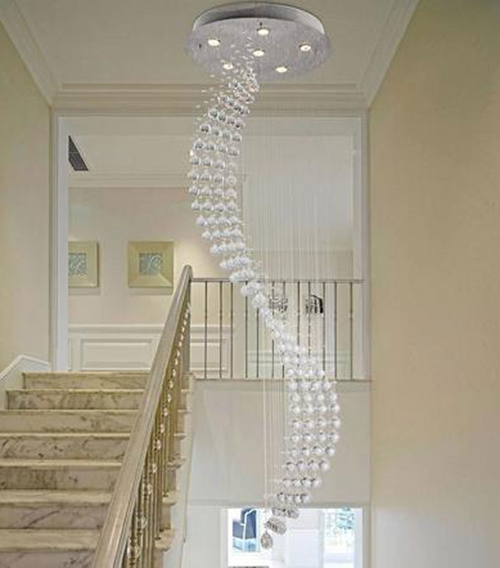 Latest Modern Large Chandeliers Pertaining To Home Design : Modern Chandeliers For Staircase Midcentury Large (View 9 of 20)
