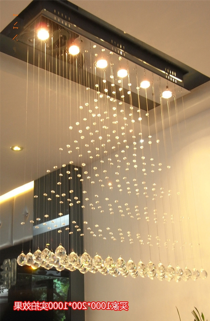 Latest Modern Square Crystal Chandelier Rotating Stainless Steel Led Inside Restaurant Chandeliers (View 13 of 20)