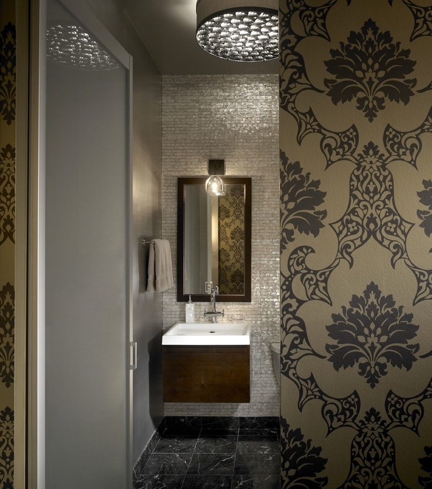 Latest Mother Of Pearl Chandelier Bathroom Industrial With Bathroom Within Chandelier Bathroom Lighting (View 11 of 20)