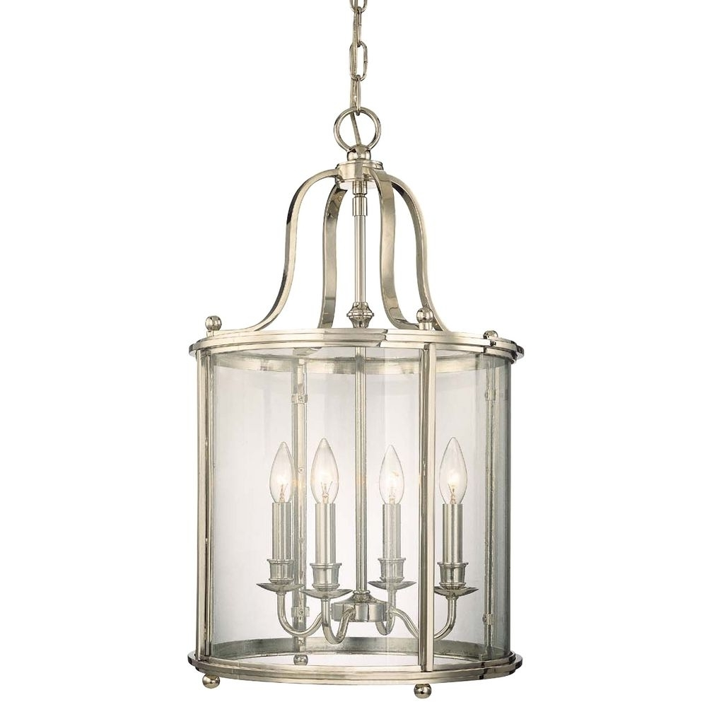 Latest Polished Nickel Cage Chandelier With Four Lights (View 7 of 20)