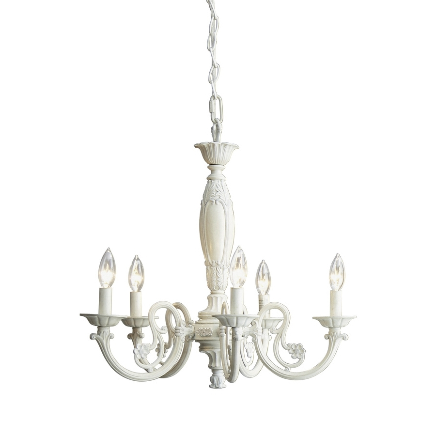 Latest Shop Style Selections 22 In 5 Light Antique White Standard In Antique Looking Chandeliers (View 15 of 20)