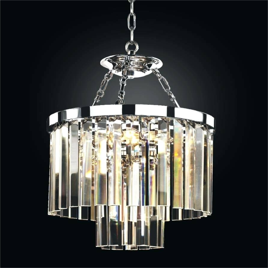 Latest Short Chandeliers Inside Chandeliers Design : Marvelous Small Crystal Chandelier Eriska Drop (View 12 of 20)