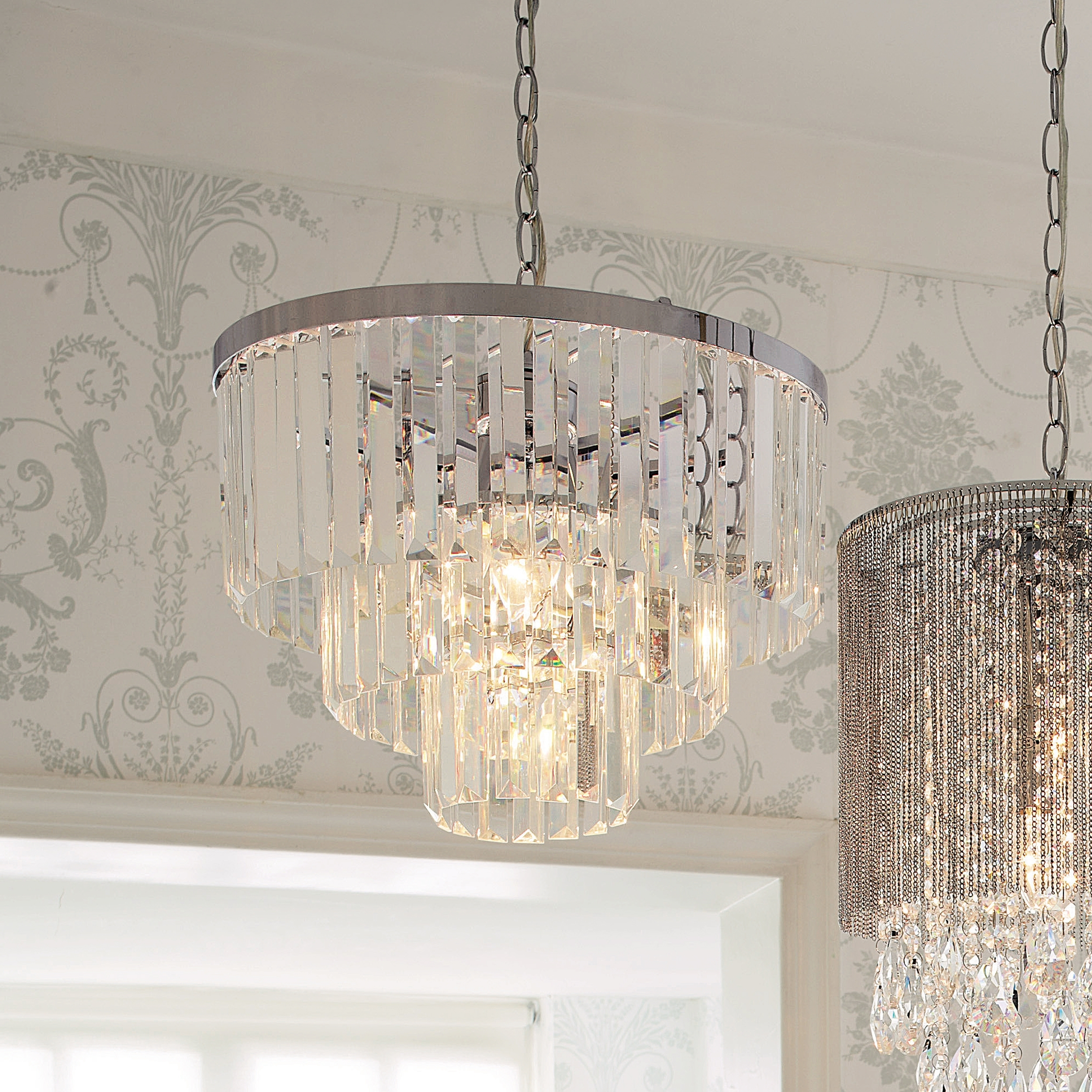 Laura Ashley With 3 Tier Crystal Chandelier (View 11 of 20)