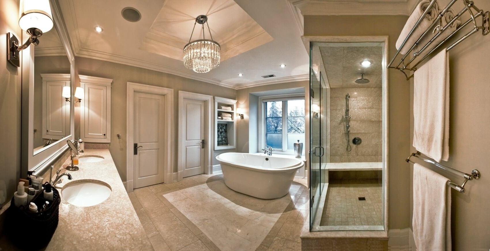 Layered Lighting With Crystal Chandeliers – Doing It The Glow Way For Well Known Crystal Bathroom Chandelier (View 15 of 20)