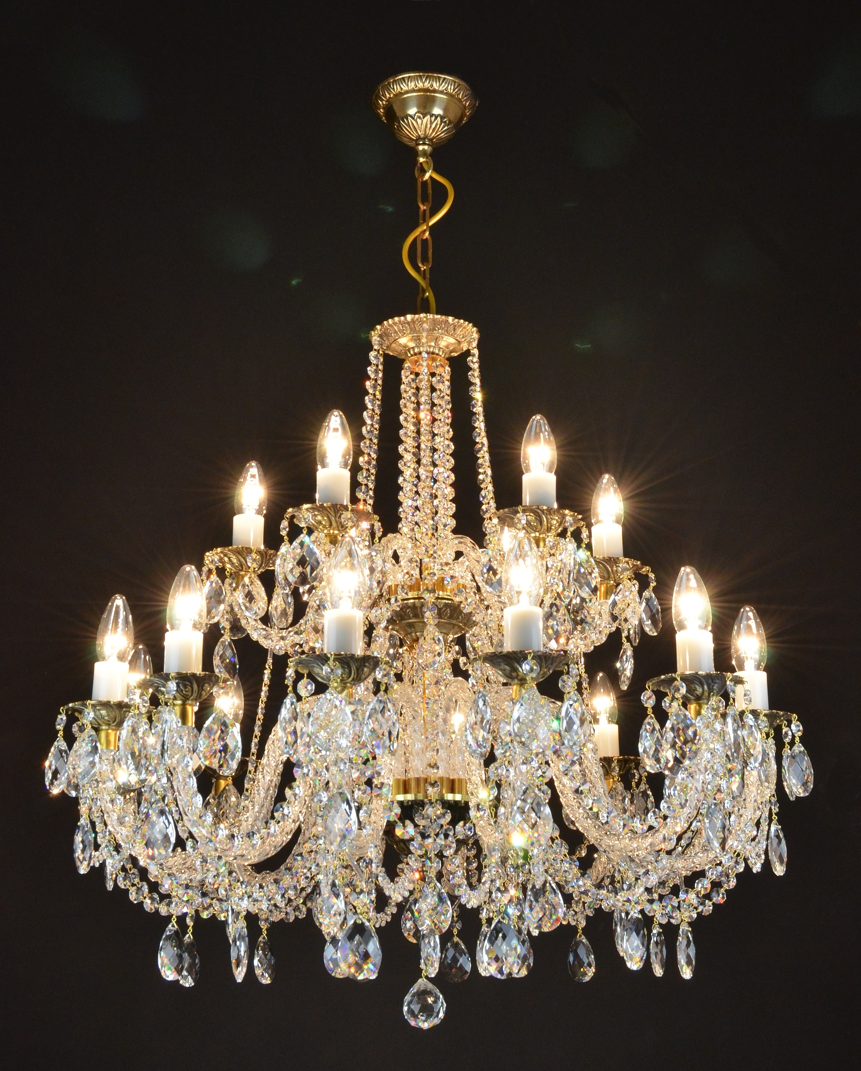 Lead Crystal Chandelier Inside Most Current Free Images : Lighting, Decor, Light Fixture, Swarovski, Crystal (View 3 of 20)