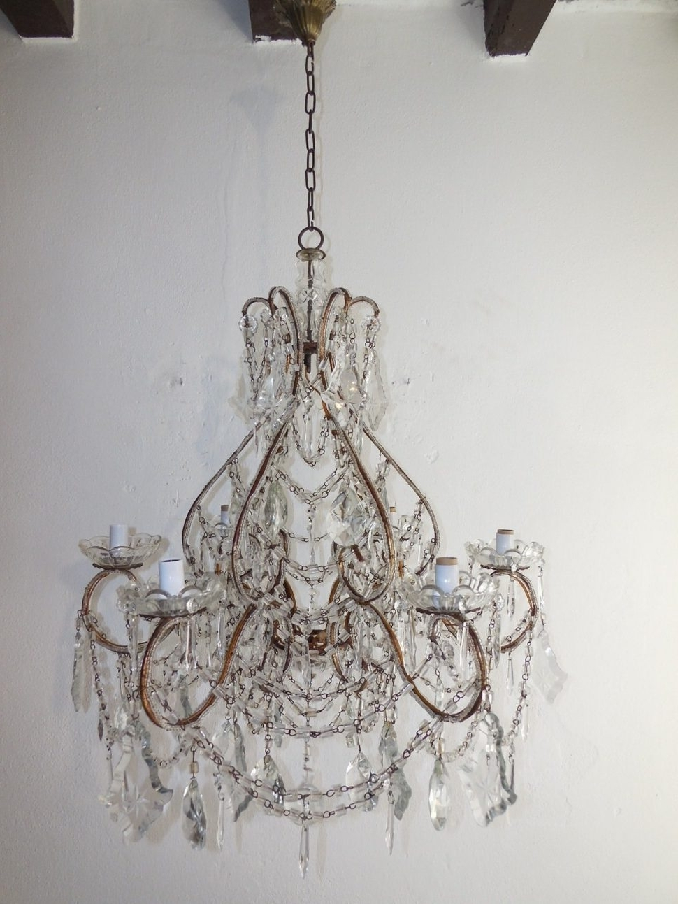 Lead Crystal Chandelier With Newest Chandeliers : Lead Crystal Chandelier Prisms Chandeliers Design Lamp (View 12 of 20)