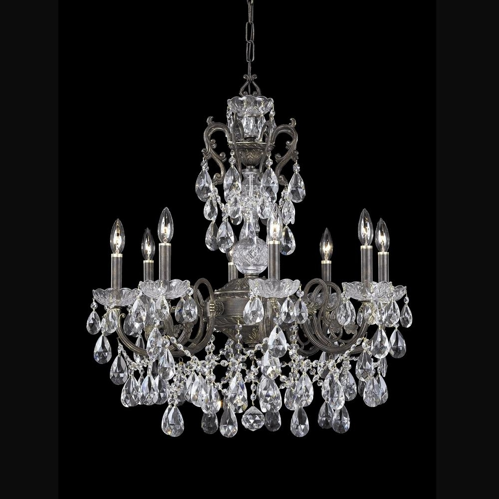 Lead Crystal Chandeliers With Regard To Famous Buy English Bronze Hand Cut Lead Crystal Chandelier (View 11 of 20)