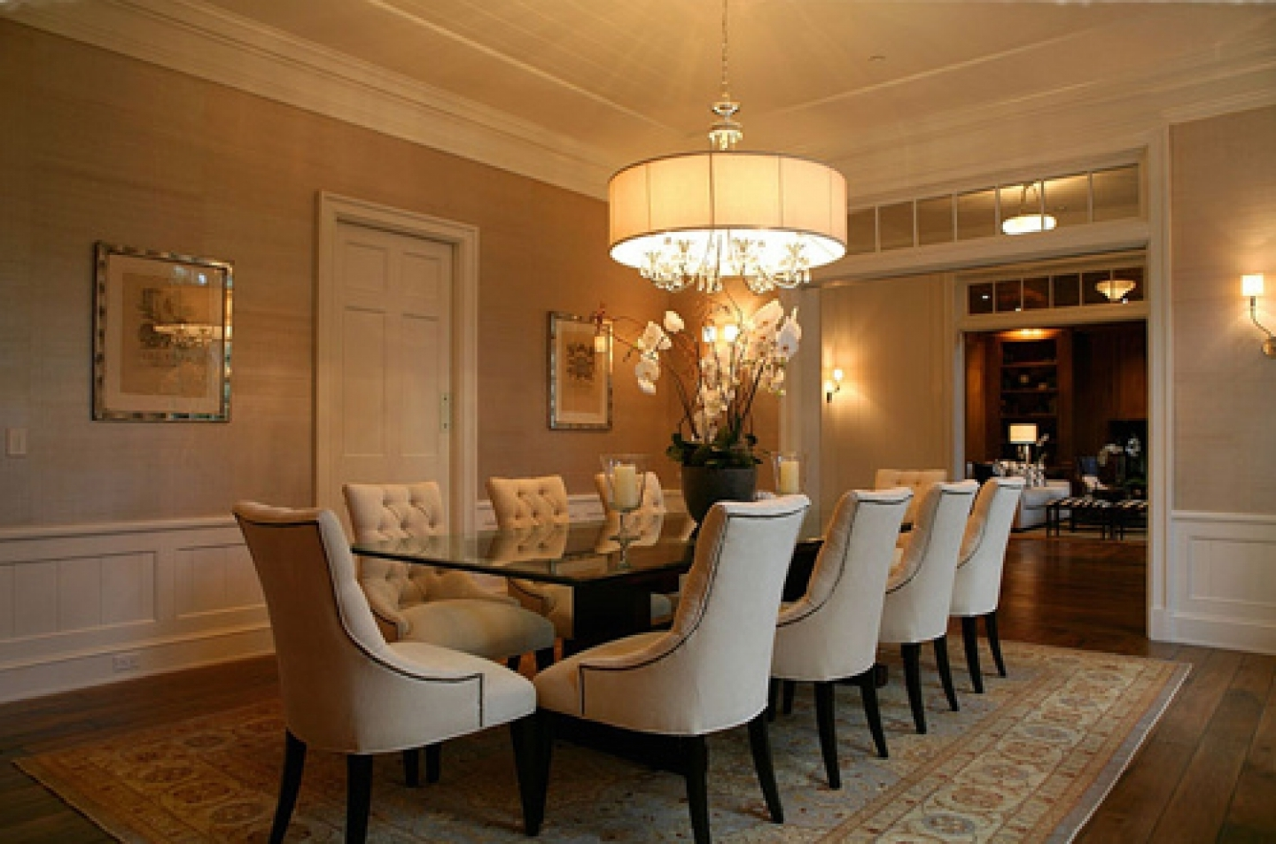 Leather Chandeliers With 2018 Contemporary Dining Room Design With Round Oversized Chandeliers (View 11 of 20)