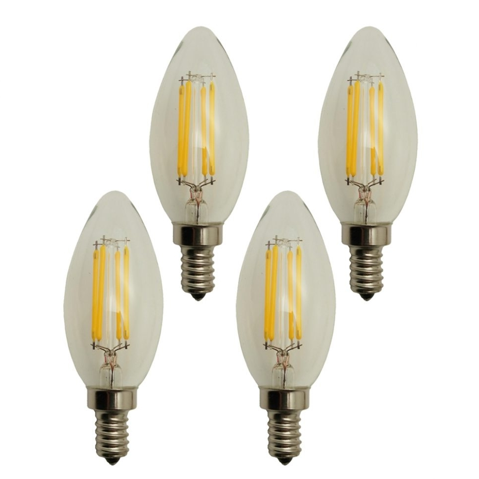 Led Candle Chandeliers With 2018 Chandeliers Design : Magnificent Bell Led Candle Chandelier Bulbs (View 16 of 20)