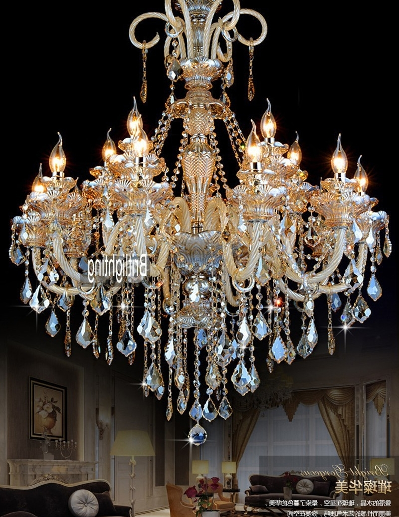 Led Lamps Modern Crystal Chandelier Lighting Furniture Big With Recent Big Crystal Chandelier (View 12 of 20)